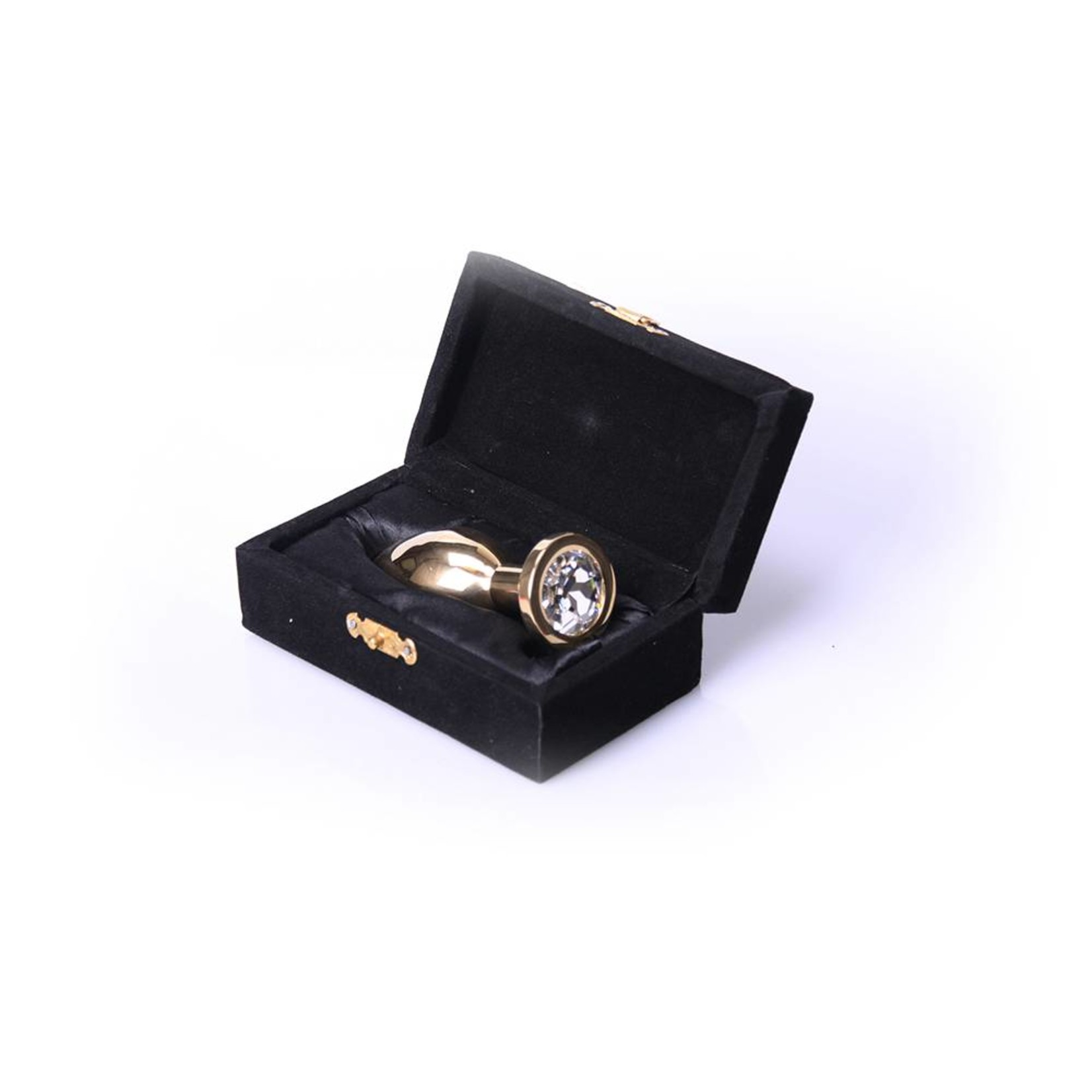 KIOTOS Steel Buttplug Gold - Clear - Large