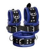 KIOTOS Leather Anklecuffs 6,5 cm - Blue