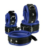 KIOTOS Leather Anklecuffs 5 cm - Blue