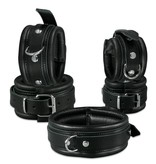 KIOTOS Leather Anklecuffs 5 cm - Black