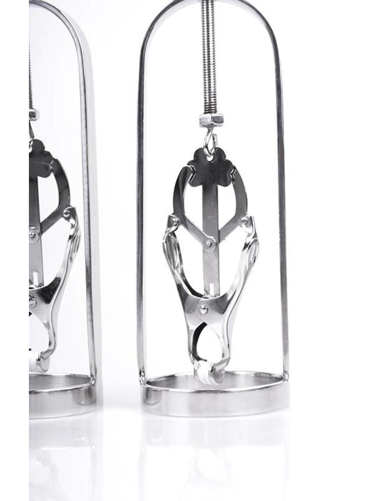 KIOTOS Steel Nipple Pullers with Clover Clamps (2 pcs)