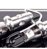 KIOTOS Steel Barrel Tit Clamps Pair with 3 diamonds