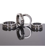KIOTOS Steel Chain Link Inlay Cock Ring - Stainless Steel - 45 mm