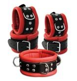KIOTOS Leather Collar 6,5 cm - Red