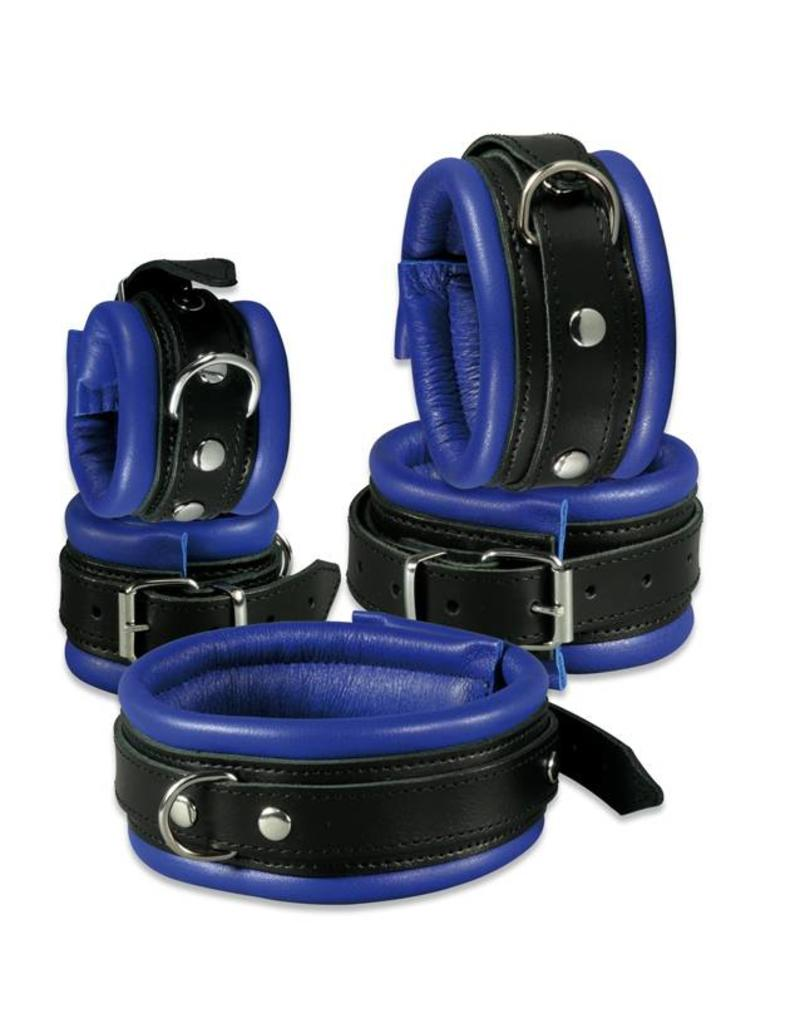 KIOTOS Leather Collar 5 cm - Blue