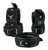 KIOTOS Leather Collar 5 cm - Black
