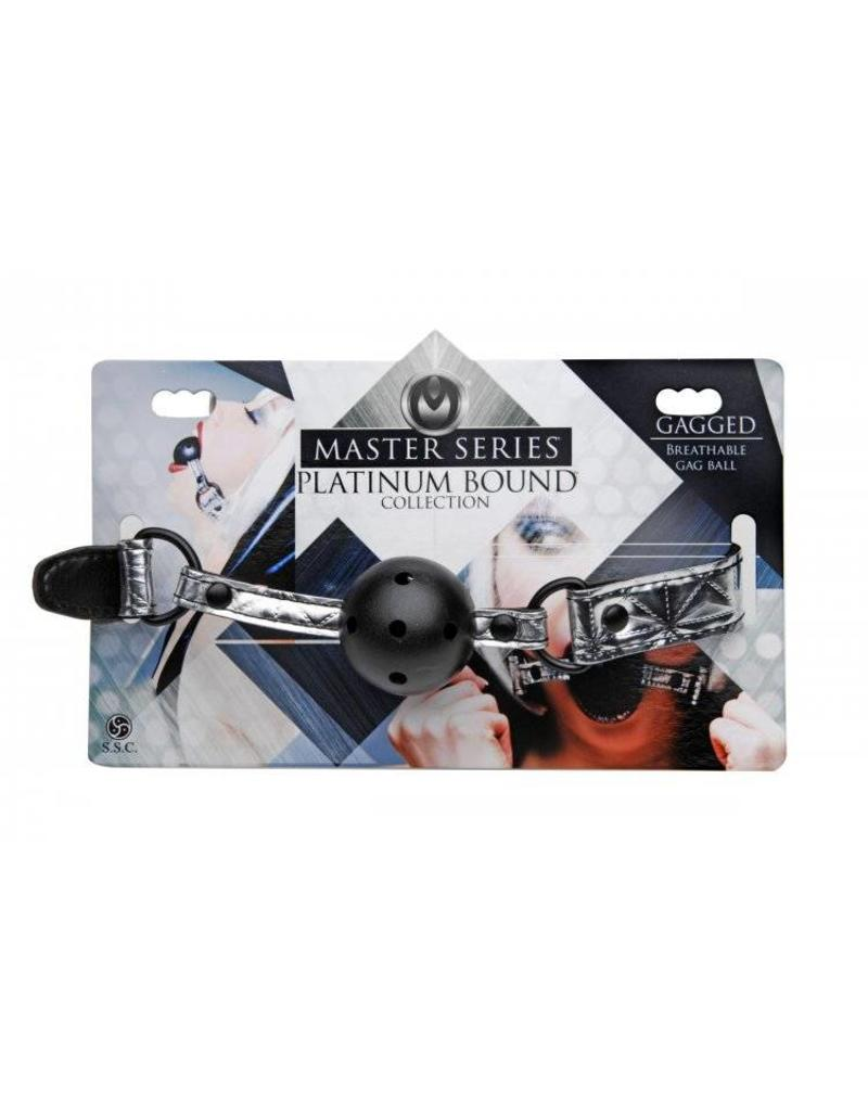 Master Series Gagged Breathable Ball Gag