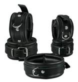 KIOTOS Leather Handcuffs 5 cm - Black