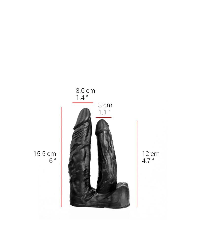 "515 Line 6"" Double Black 515 Line Dildo"