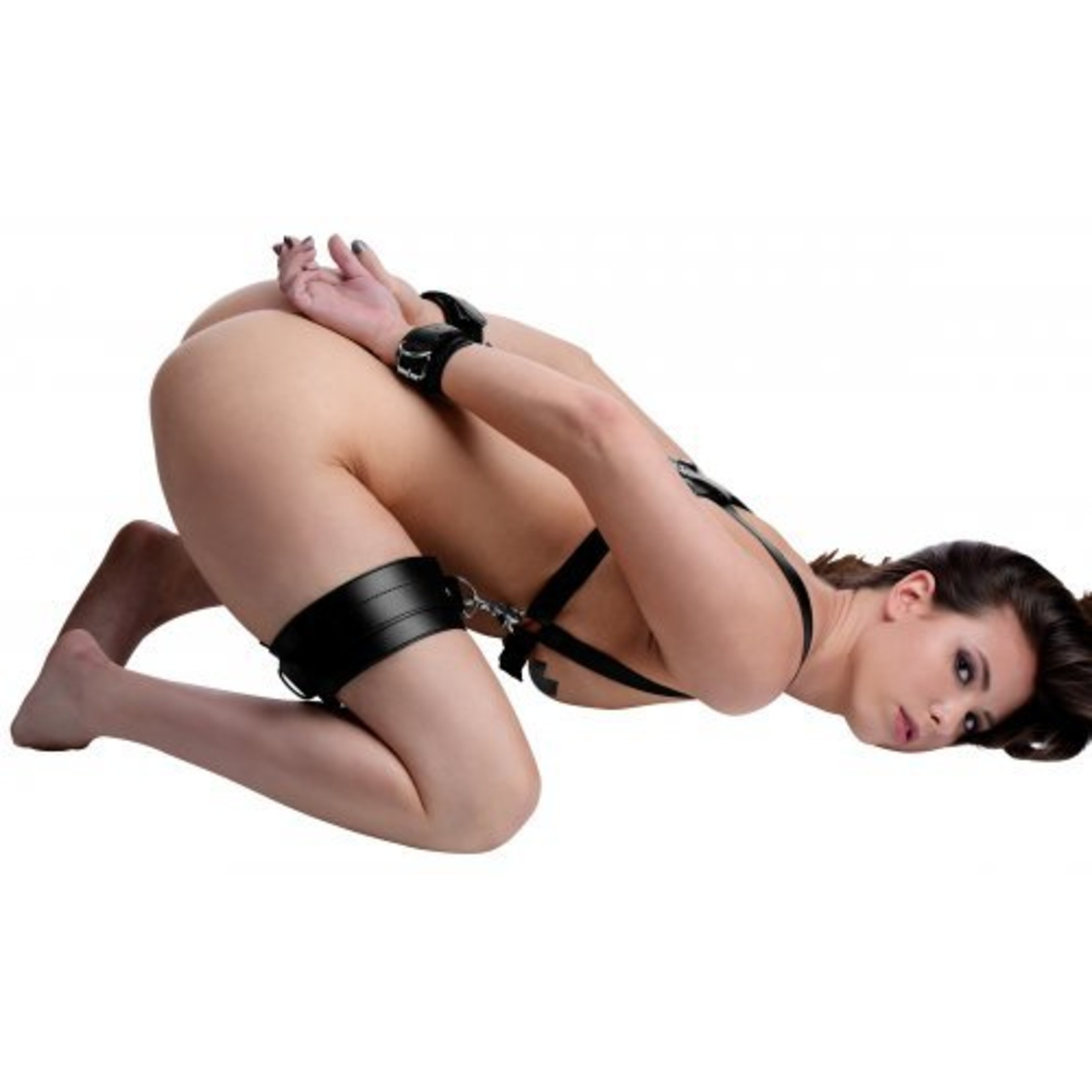 Strict Deluxe Thigh Sling With Wrist Cuffs