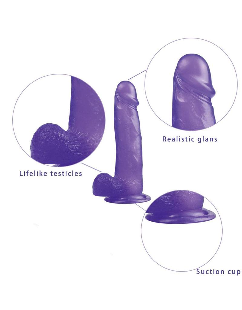 Lovetoy Jelly Studs Crystal Dildo - Large Purple