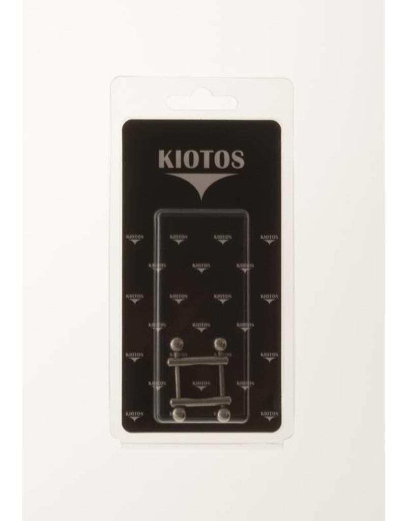 KIOTOS Steel Nipple Clamps 2 End Ball