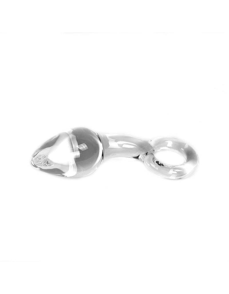 Kiotos Glass Glass Dildo Clear Butt Plug & O-ring