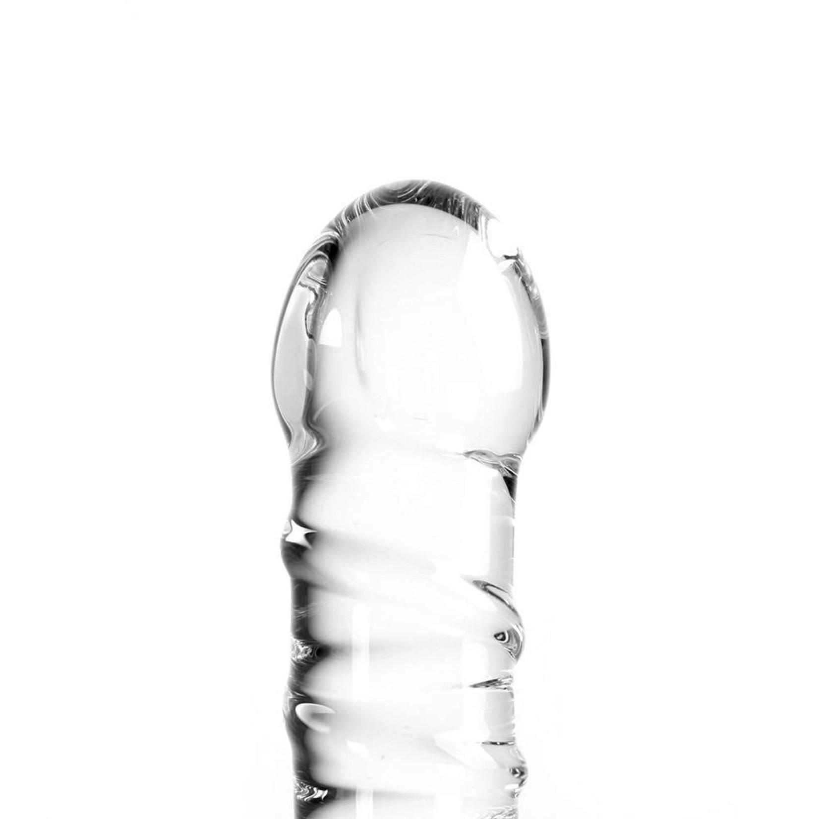 Kiotos Glass Glass Dildo Clear Penis Swirl