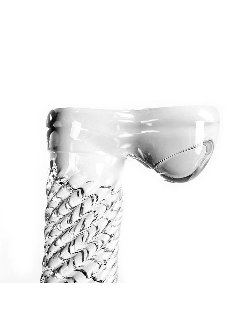 Kiotos Glass Glass Dildo Clear Penis Ribbed