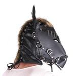 KIOTOS Leather Horse Mask Black Leather