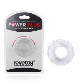 Lovetoy POWER PLUS Cockring 1 Clear