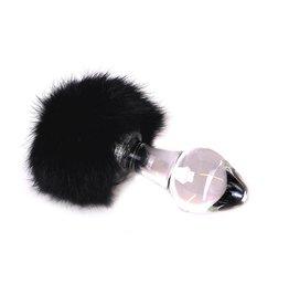 Kiotos Glass Glass Buttplug Black Tickler