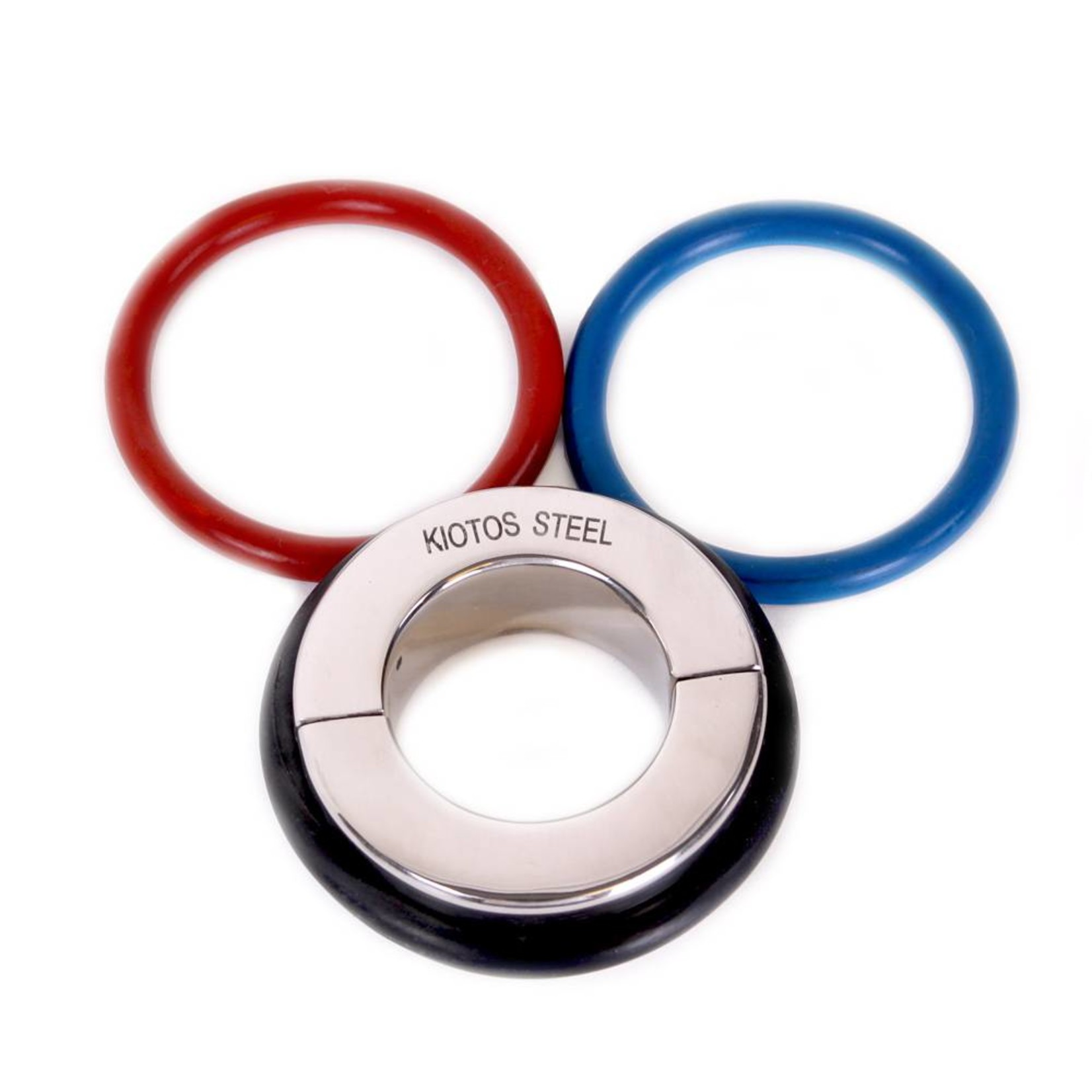 KIOTOS Steel Ball Stretcher 35 mm - With 3 Rubber Rings (Black, Red & Blue)