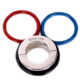 KIOTOS Steel Ball Stretcher 45 mm - With 3 Rubber Rings (Black, Red & Blue)