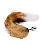 KIOTOS Steel Fox Tail Plug Brown & White - Short
