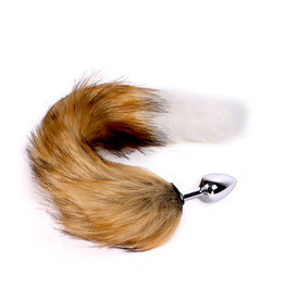 KIOTOS Steel Fox Tail Plug Brown & White - Short