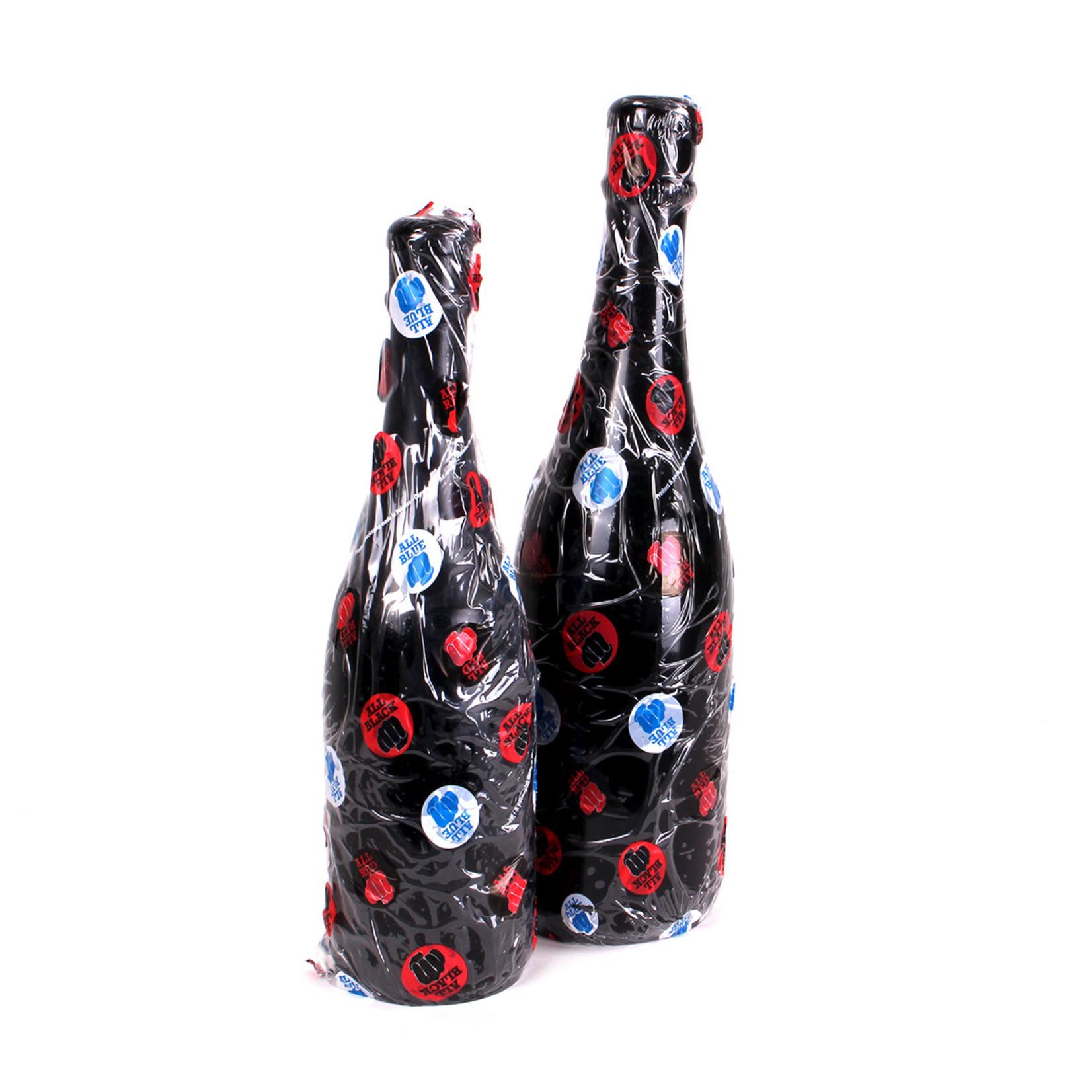 All Black Champagne Bottle Medium
