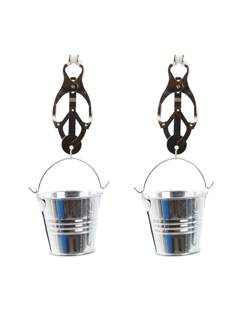 KIOTOS Steel Clover Nipple Clamps with Buckets