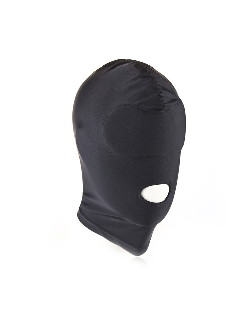 KIOTOS Leather Black BDSM Hood Mouth Only