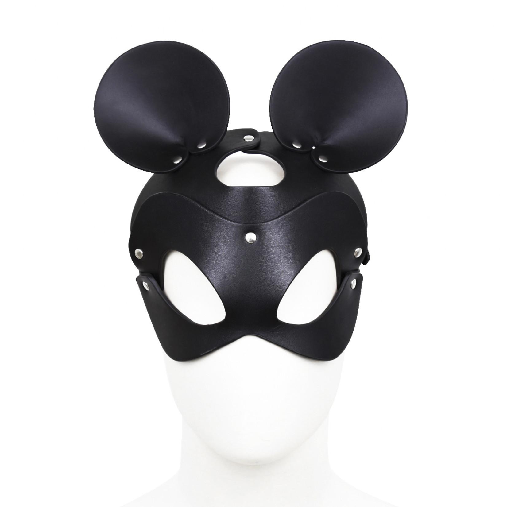 KIOTOS Leather Black Mouse Leather Mask