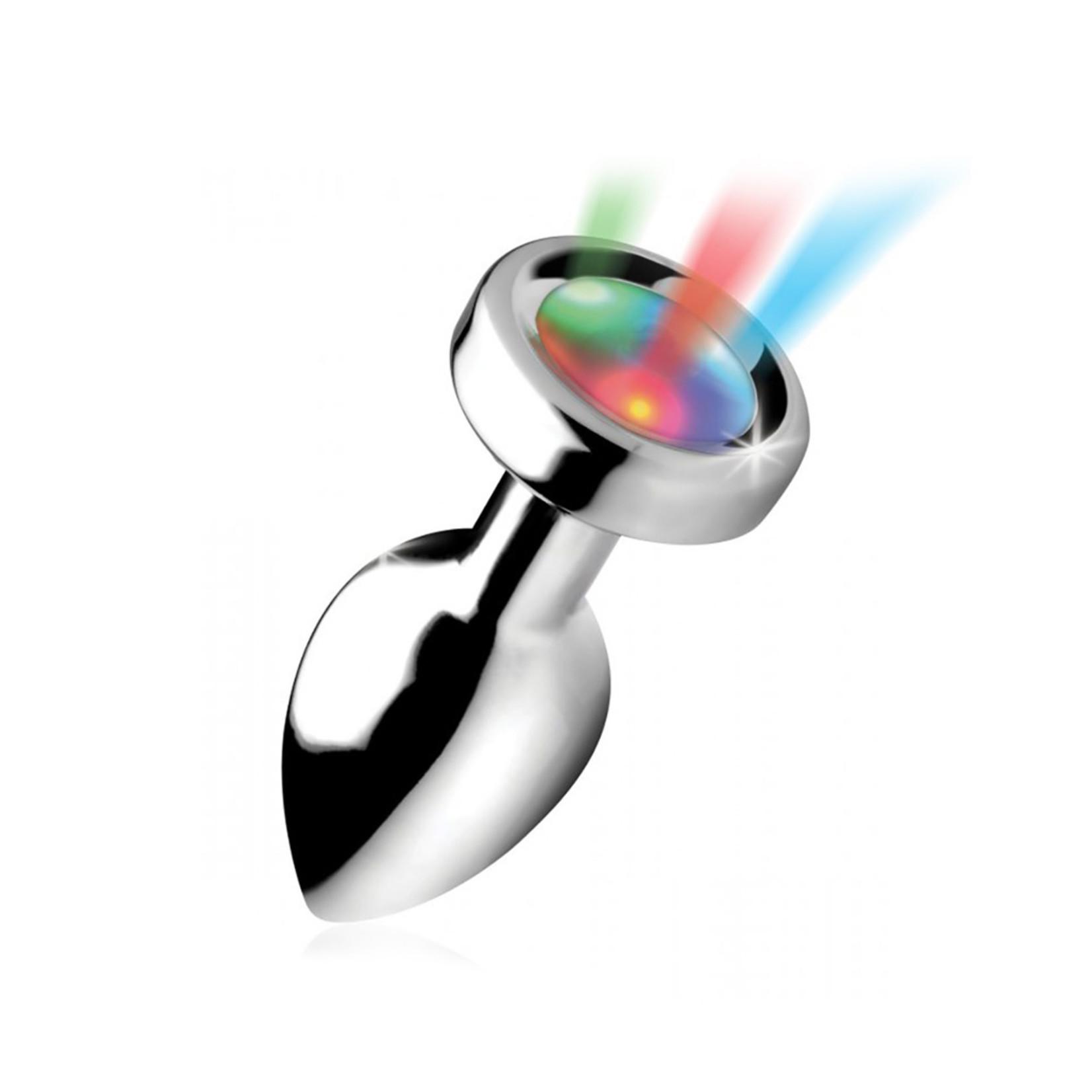 Master Series Light Up Small Anal Plug + Free Vibrating Ring