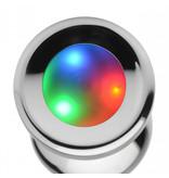 Master Series Light Up Medium Anal Plug + Free Vibrating Ring