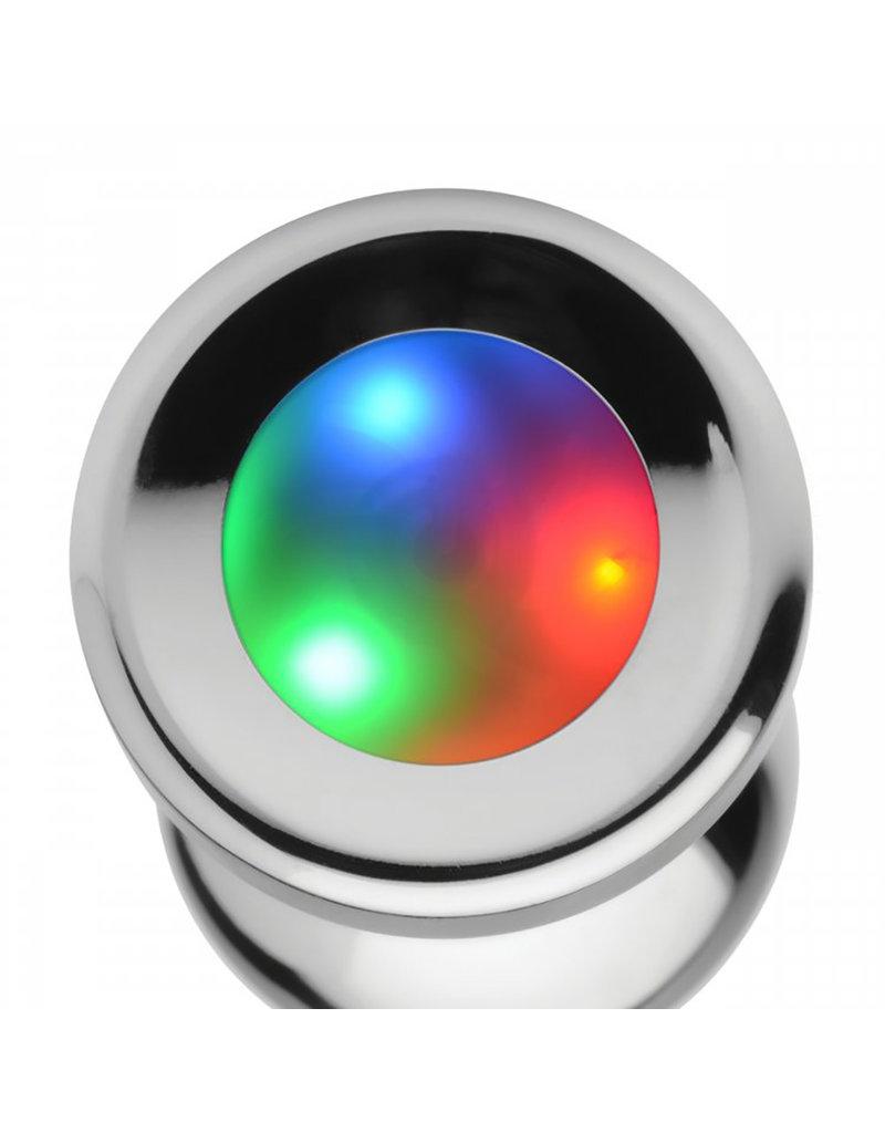Master Series Light Up Large Anal Plug + Free Vibrating Ring