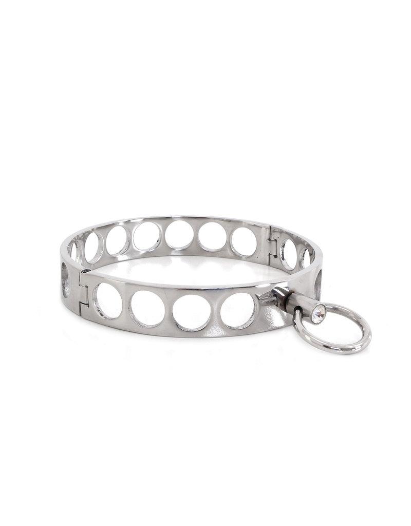 KIOTOS Steel Steel Collar Open Circles M 11.5 cm
