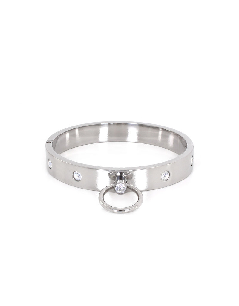 KIOTOS Steel Steel Collar with Gems M 11.5 cm