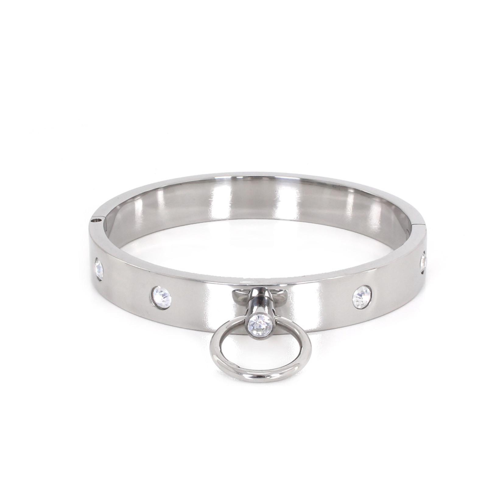 KIOTOS Steel Steel Collar with Gems L 13.5 cm
