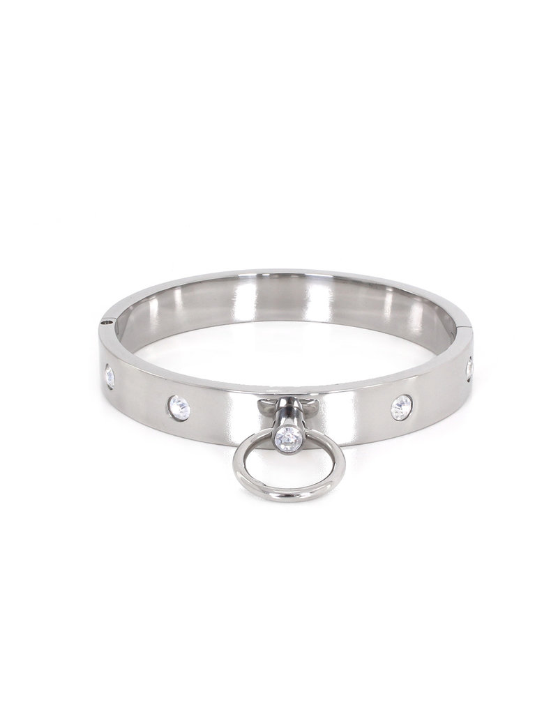 KIOTOS Steel Steel Collar with Gems L 13.5 cm