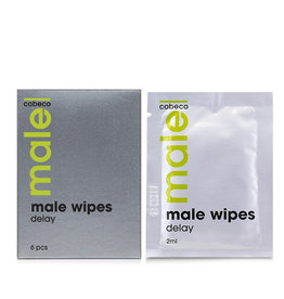 Cobeco MALE Wipes Delay 6 x 2.5 ml