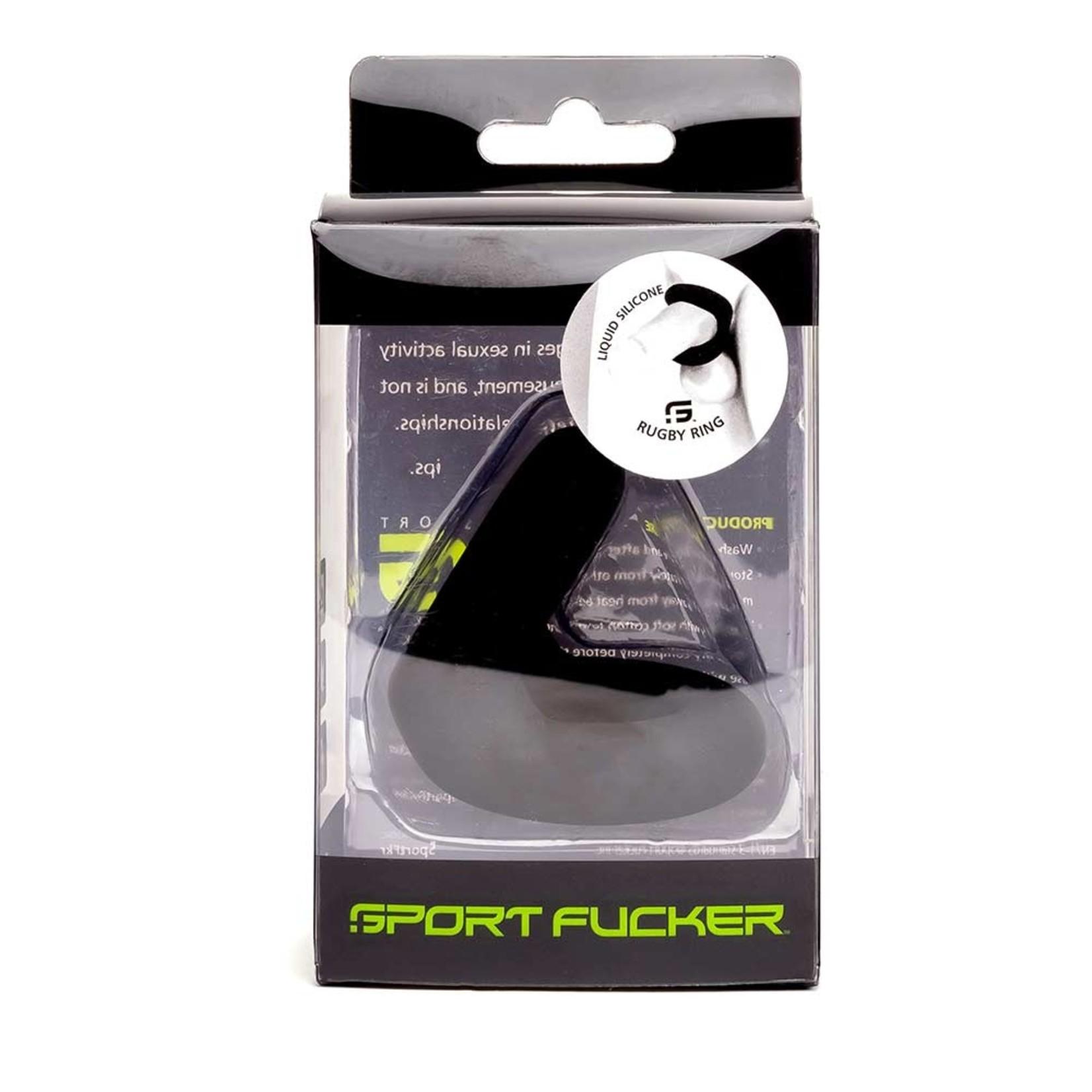 Sport Fucker Liquid Silicone Rugby Ring - Zwart