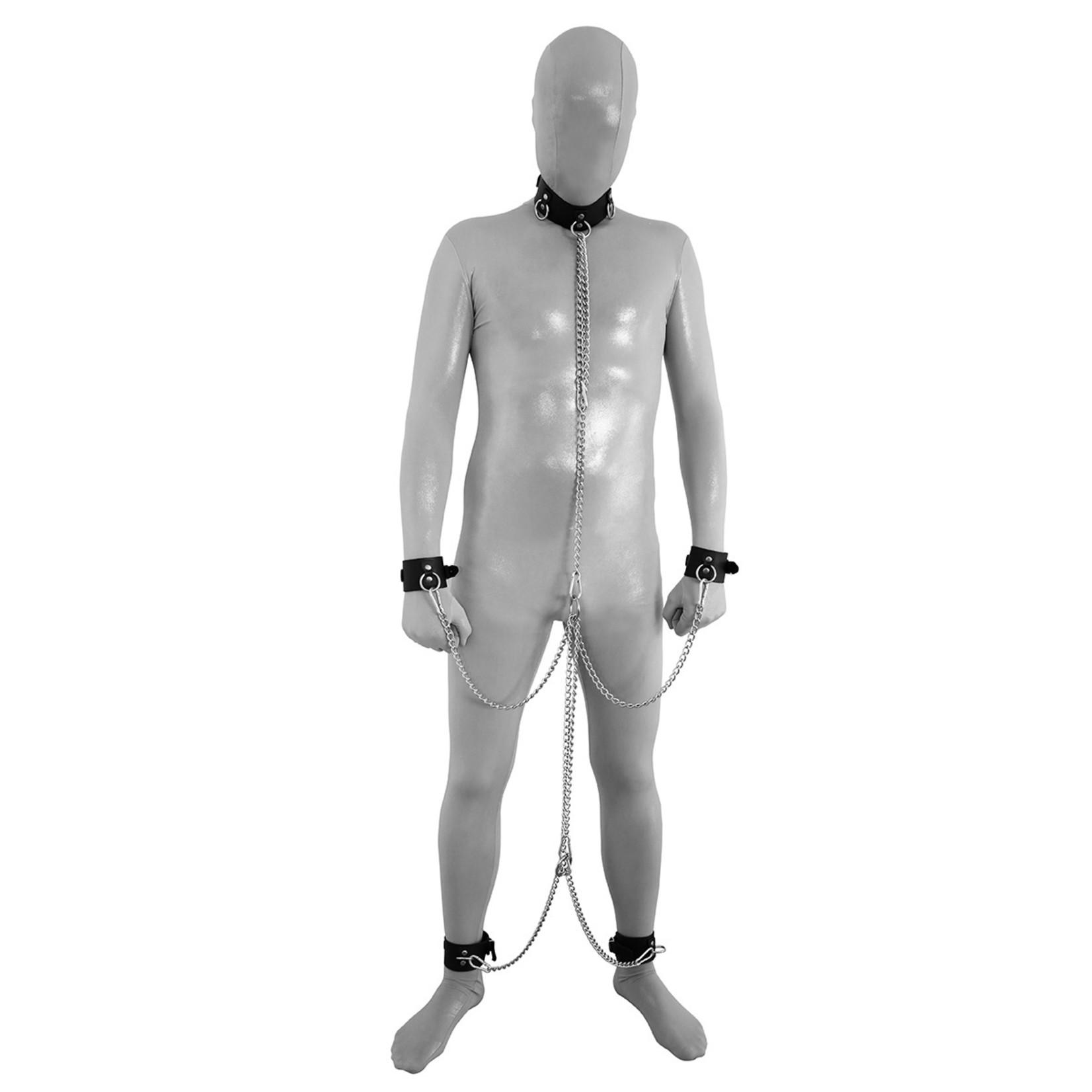 KIOTOS Leather Lederen Full Body Boeien & Collar Set