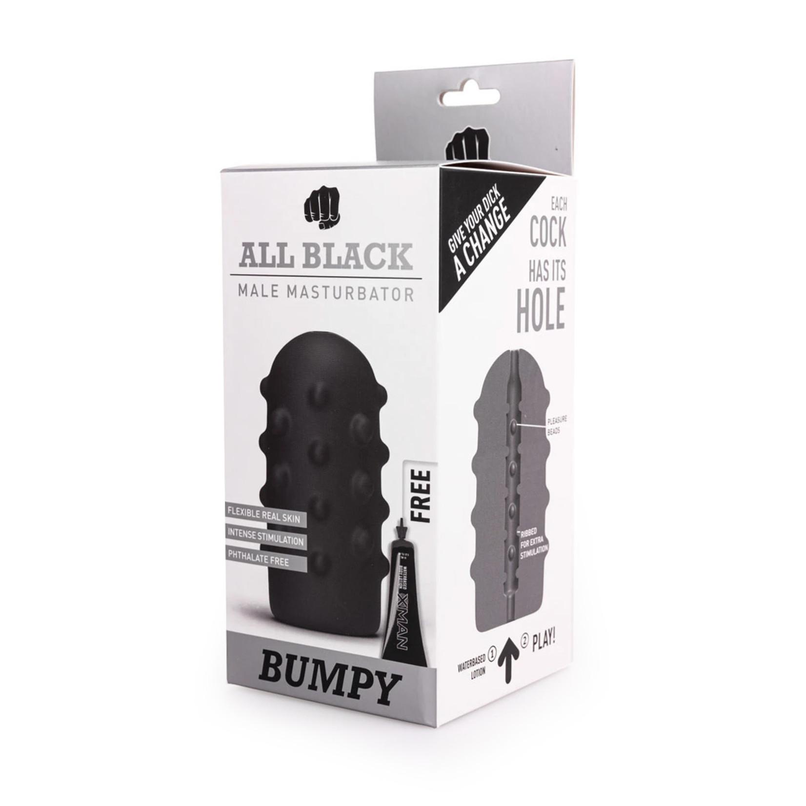 All Black Bumpy Masturbator