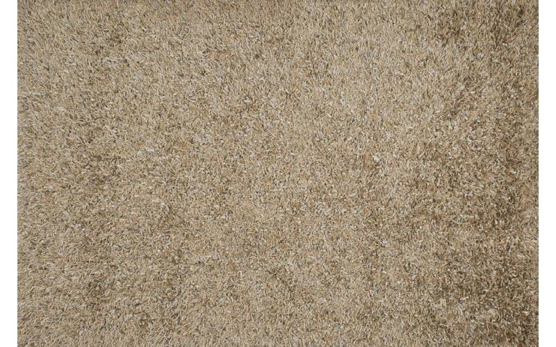 Schöner und weicher Hochflor Teppich Donna 13 Beige