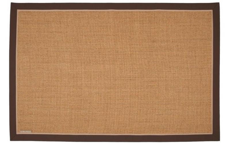 Sisal Teppich EdgarTown 15 Beige mit Bordüre aus Baumwolle RM 18