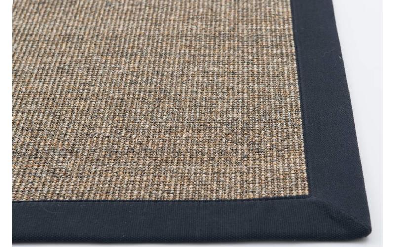 Sisal Teppich Premium 16 Natur mit Bordüre aus Baumwolle