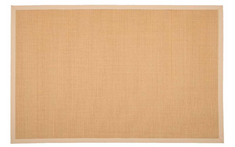 Sisal Teppich Premium 12 Beige/Crème mit Bordüre aus Baumwolle
