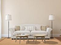 Sisal Teppich Premium 15 Braun/Orange mit Bordüre aus Baumwolle