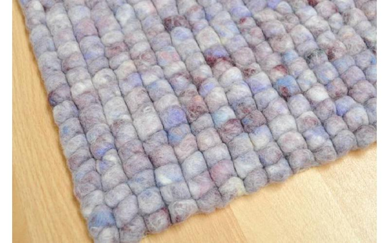 Teppich aus 100% Wolle in Lila