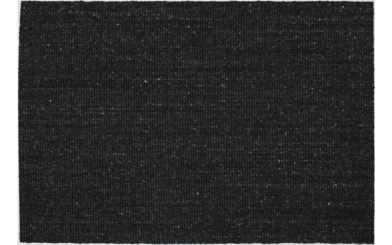 Teppich aus 100% Wolle in Anthrazit