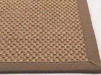 Sisal Teppich Havard 21 Grau mit Rand aus Baumwolle
