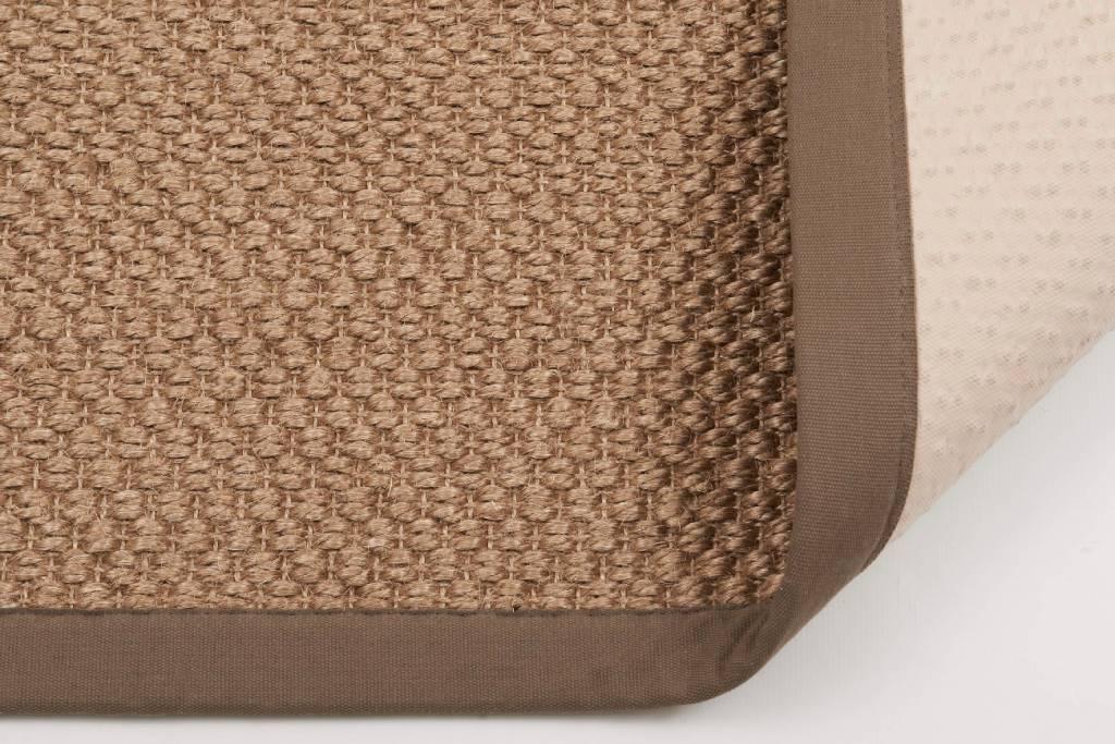 Sisal Teppich Havard 21 Grau Mit Baumwollbordüre Floorpassion
